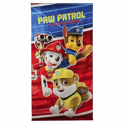 Children Official Licenced Paw Patrol Marshall Chase Rubble Cotton Beach Towel