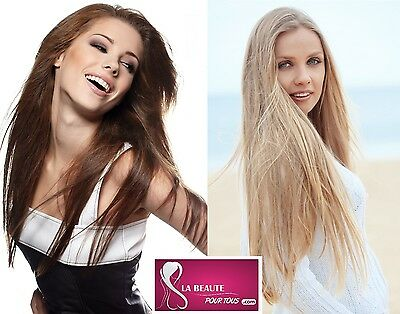 100 Extensions De Cheveux 100% Naturels, 51Cm, Pose A Froid, Systeme Easy Loop!