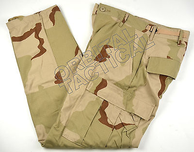 New Usgi Army Dcu Desert Summer Rip Stop 50/50 Camo Pants