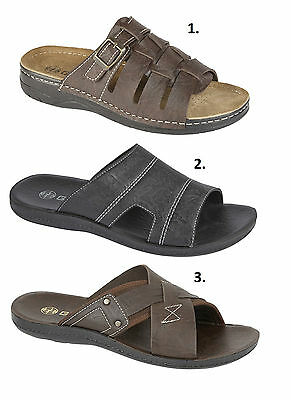 New Men's Boys Woven Mule Sandal Brown Buckled Stylish Comfortable Casual Beach