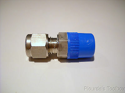 New Ham-let 768L-SS-6MM X 1/4 Male Connector, LET-LOK, 316SS, 1/4 npt x 6mm Tube