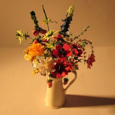 Flowers in a vase ~ Doll house miniature ~1 twelfth