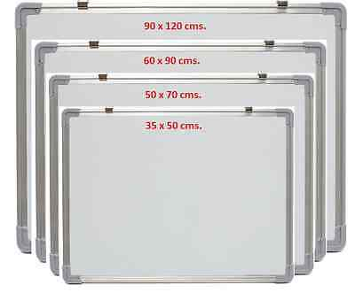 Magnetic Dry Wipe Double Side Whiteboard Set Notice Drawing Message Board Office