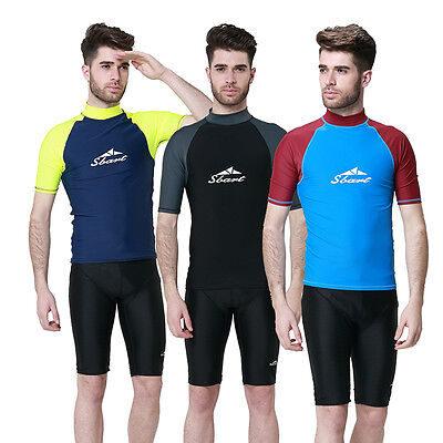 New Men Anti-UV Swimwear Snorkeling Suit Swiming Surfing Tops Shirt Wetsuit