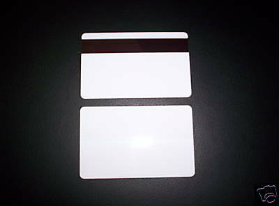 1000  PVC Plastic Cards CR80 30Mil HiCo Magnetic Mag Stripe White