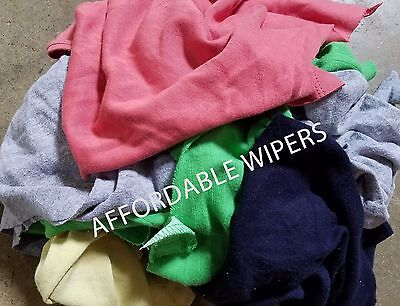COLOR KNIT SHOP CLEANING TOWELS WIPING RAGS/CLOTH - 25 LBS BOX - ~ 250 Pieces
