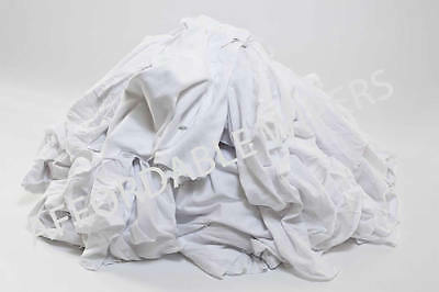 WHITE KNIT SHOP CLEANING TOWELS WIPING RAGS/CLOTH - 50 LBS BOX - ~ 500 Pieces