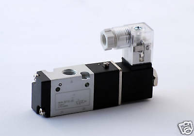 """1pc 3 Way 2 Pos Pnuematic Valve 1/8""""NPT Normally Closed MettleAir 3V110-06-DC12"""
