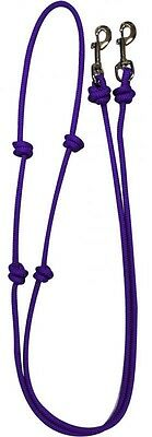 Showman PURPLE Western Nylon Barrel Reins w/ Snaps! NEW HORSE TACK!