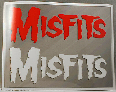 Misfits Sticker, punk rock band decal, Fiends, Stick on instruments, cars