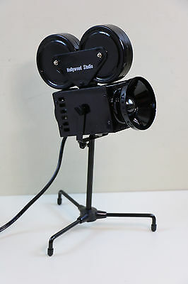 Hollywood Studio Movie Film Camera Electric Table / Desk Lamp
