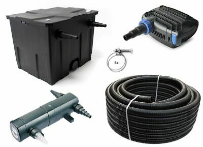 Pond filter Set 12,000 l CBF350 +Eco O series Pump 4600 +UVC clearer +10m Hose