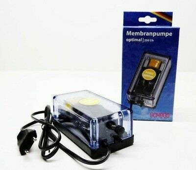SCHEGO OPTIMAL MEMBRANE PUMP 250 L/H Aerator Air Pump Aquarium Pump