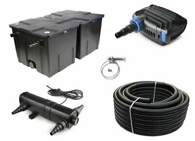Pond filter Set 60000l CBF350B +Eco O-Series Pump 5000 +UVC Clarifier +10m Hose