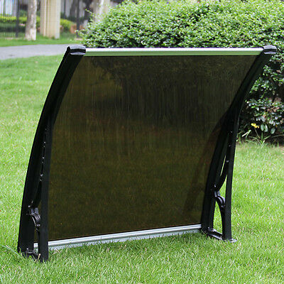 """30""""×40""""UV Rain Protection Awning Polycarbonate Canopy Patio Cover"""