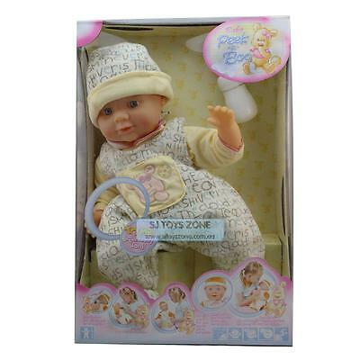 Baby Peek a Boo Large Interactive Baby Born Doll Pretend Toy For Girls