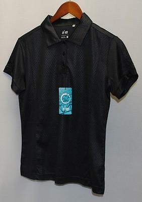 New Ladies NiVO Size Small polyester short sleeve golf polo Black