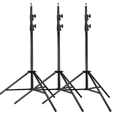 Neewer 3 pieces 9 Feet Aluminum Alloy Photography Photo Studio Light Stand kit