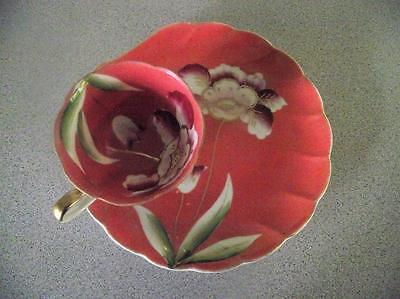 Royal Carlton 7917 Flowered Cream Rose Snack Plate and Teacup