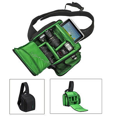 Green Camera & Accessories Shoulder Bag Backpack For DSLR SLR Canon Nikon Sony