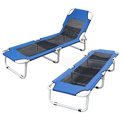 Folding Camping Bed Pool Beach Reclining Lounge Chair Outdoor Camping Fishing