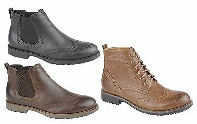 New Mens Boys Black Brown Formal Casual Trendy Fashion Chelsea Boot Shoe