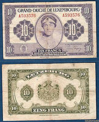 Luxembourg - 10 Francs 1944 - Luxembourg