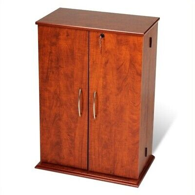 Prepac 34  Locking CD DVD Media Storage Cabinet Wood in Cherry and Black  sc 1 st  PicClick & PREPAC 34