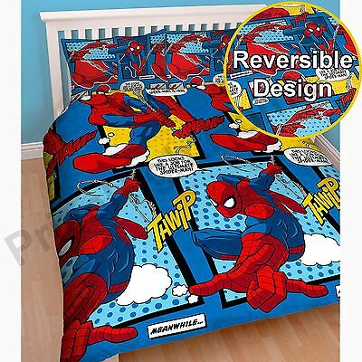 Spiderman Webhead Double Duvet Cover Set Kids Official Bedding Free P+P