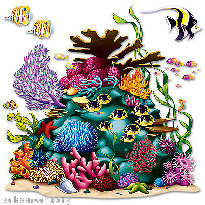 Underwater Marine Life Party Scene Setter Add-on Prop Decoration CORAL REEF