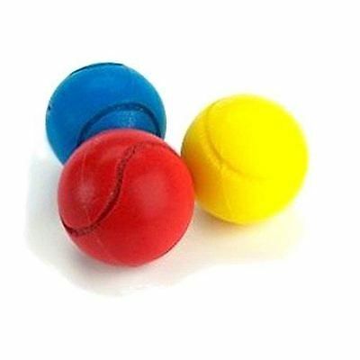 Soft Sponge Tennis Balls 3 Assorted Colours Summer Time Outdoor Indoor Fun Play