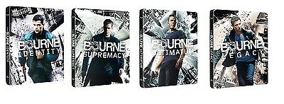 The Bourne Steelbook Collection 4-Movies Blu Ray