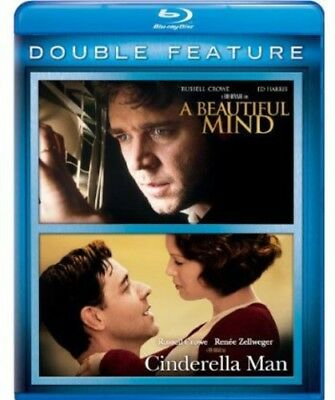 A Beautiful Mind / Cinderella Man [New Blu-ray] 2 Pack, Snap Case