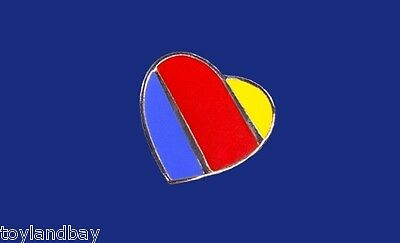 Southwest Airlines SWA Heart Collector Edition Enamel Metal Lapel Hat Pin New