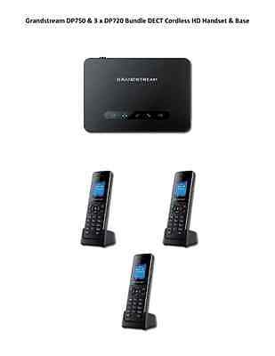 Grandstream DP750 & 3 x DP720 Bundle DECT Cordless Handset & Base