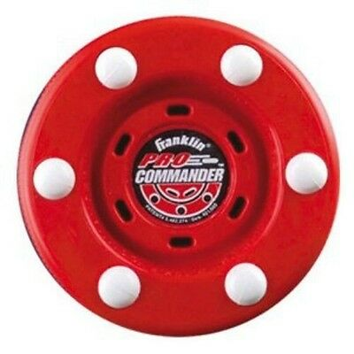 NEW Franklin Pro Commander NHL Street Hockey Puck Official Wt Ultimate Speed Red