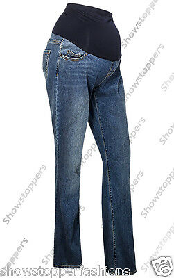 New Womens Over Bump Maternity Pregnancy Jeans Trousers Size 8 10 12 14 16 18 20