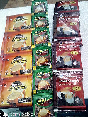 30  packets -  3 DIFFERENT - Instant Coffee Pouchs -#ca-- FREE SHIPPING