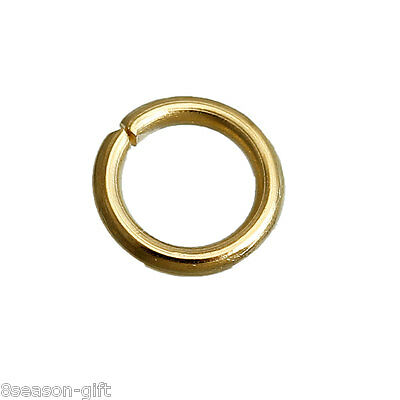 50PCs New Gold Plated Stainless Steel Open Ring Jewelry Findings 5mm