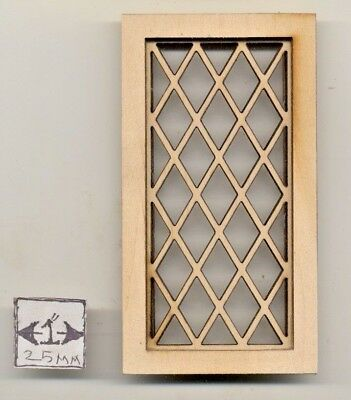 Window Spider Style 2136 round wood dollhouse miniature 1:12 scale USA made