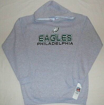 Philadelphia Eagles Youth Hooded Sweatshirt Hoodie S M L Xl Nwt Nfl Team Gray