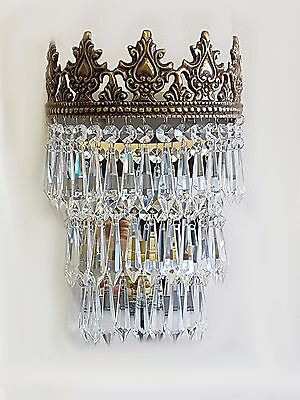Gorgeous Vintage/French Style Crystal Glass Wall Lights WL00-3B