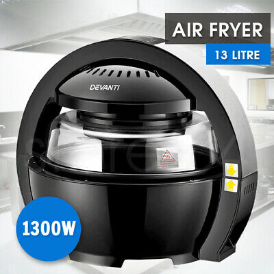 5 Star Chef AIR FRYER - 13L 1300W - Healthy Oil Free Airfryer Cooker - BLACK