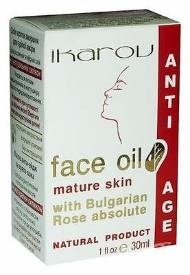 IKAROV Face Oil with Bulgarian Rose Absolut - 30ml Anti-Aging