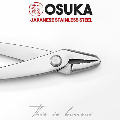 OSUKA Jin Pliers 210mm (8 inch) - Japanese Stainless Steel Silver Bonsai Tool