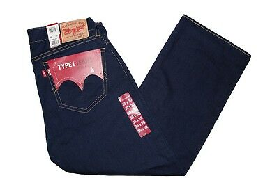 6pc LEVIS TYPE 1 REAL LOOSE MEN'S VINTAGE WASH DARK BLUE DENIM JEANS size 36x30