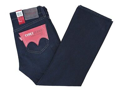 6pc LEVIS TYPE 1 MEN'S ICONIC STRAIGHT VINTAGE WASH BLUE DENIM JEANS size 32x30