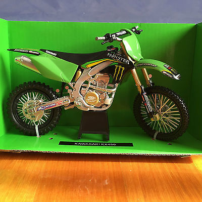 NewRay 1:12 Scale Die-Cast KAWASAKI KX450 Classic Collection Motorcycle Model