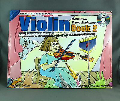 Progressive Violin Method for Young Beginners Book 2 Songbook & CD - Brand New