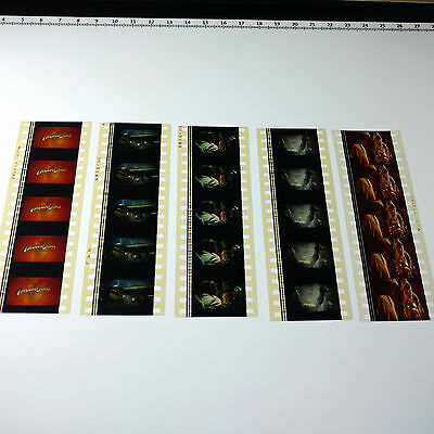 Indiana Jones & The Temple Of Doom x5 Strips 35mm Film Cells RARE + FREE POST